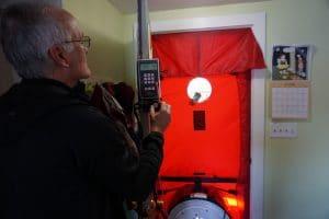 Rick with Blower Door Test