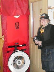 Sally with Blower Door2